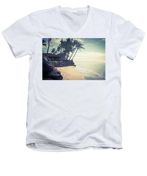 Men's V-Neck T-Shirt featuring the photograph Kihei Maui Hawaii by Sharon Mau