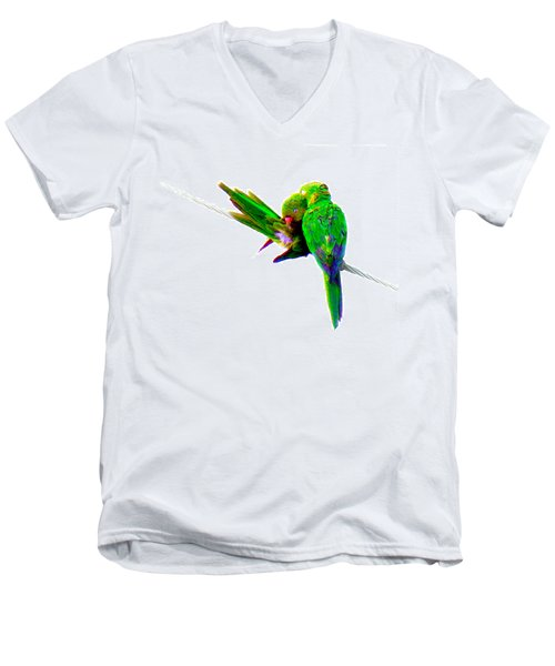 Love Birds Men's V-Neck T-Shirt by J Anthony