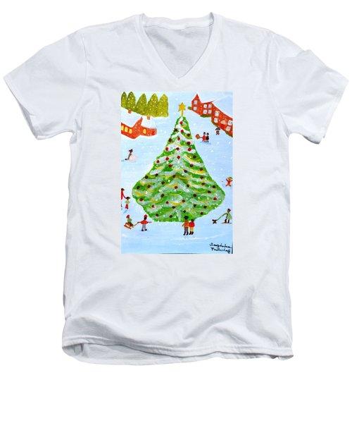 Merry Christmas Men's V-Neck T-Shirt