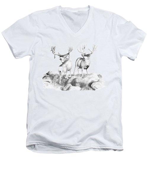 2 Muley Bucks Men's V-Neck T-Shirt