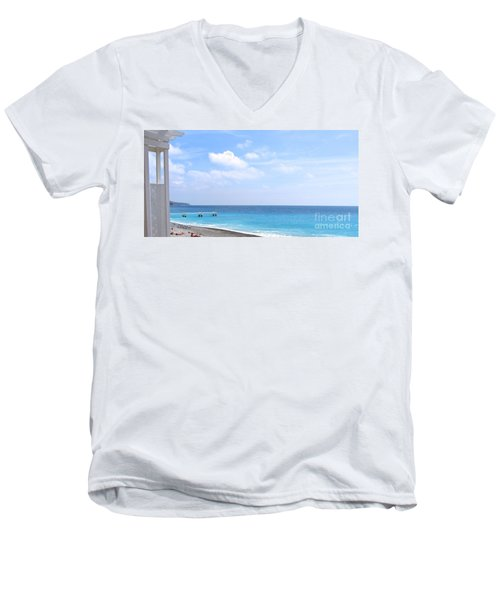 Nice  Men's V-Neck T-Shirt by Suzanne Oesterling