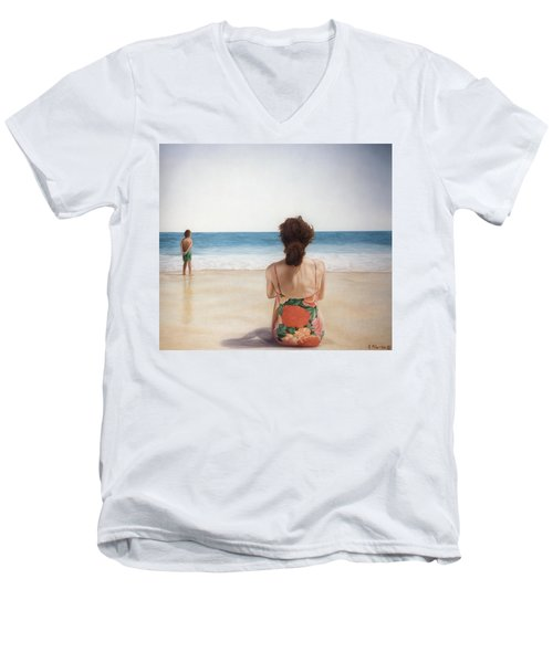 On The Beach Men's V-Neck T-Shirt