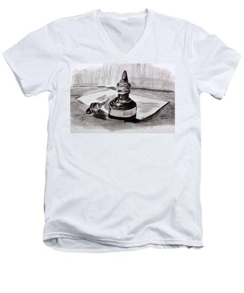 Pen And Ink Men's V-Neck T-Shirt