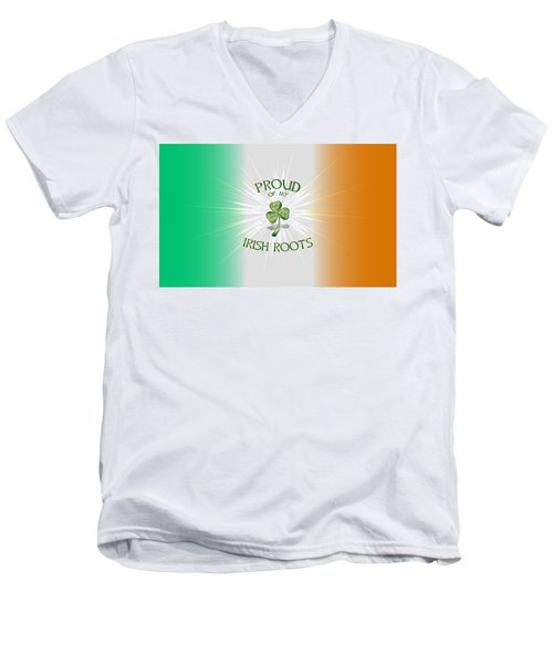 Proud Of My Irish Roots Men's V-Neck T-Shirt