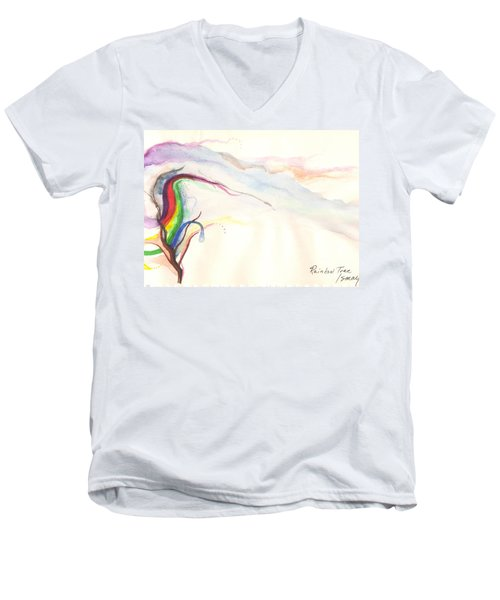 Rainbow Tree Men's V-Neck T-Shirt