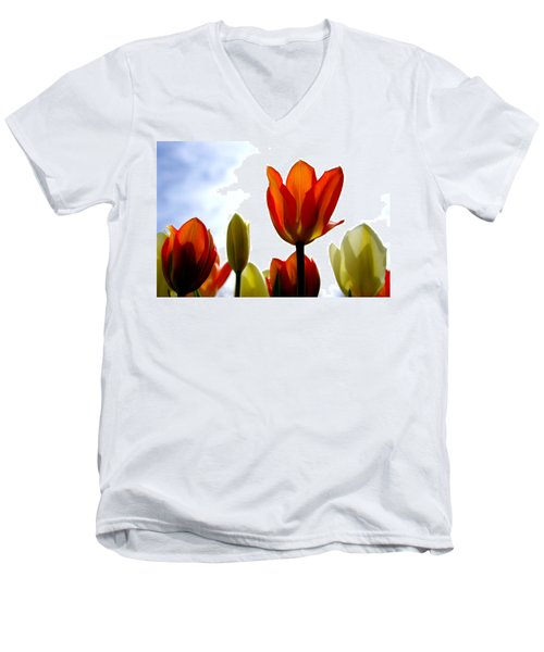 Men's V-Neck T-Shirt featuring the photograph Reaching For The Sun by Marilyn Wilson