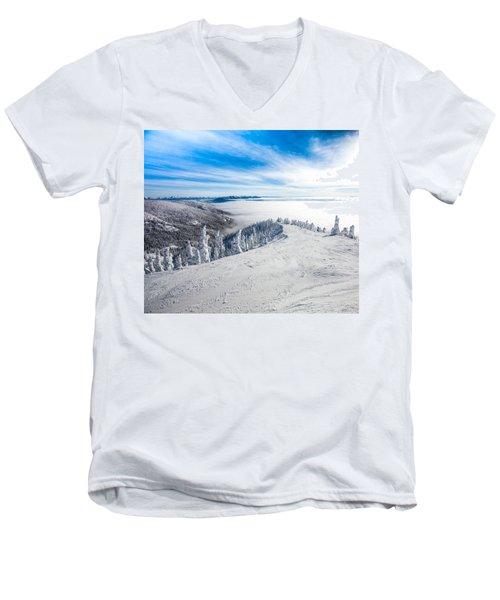 Ridgeline Men's V-Neck T-Shirt by Aaron Aldrich