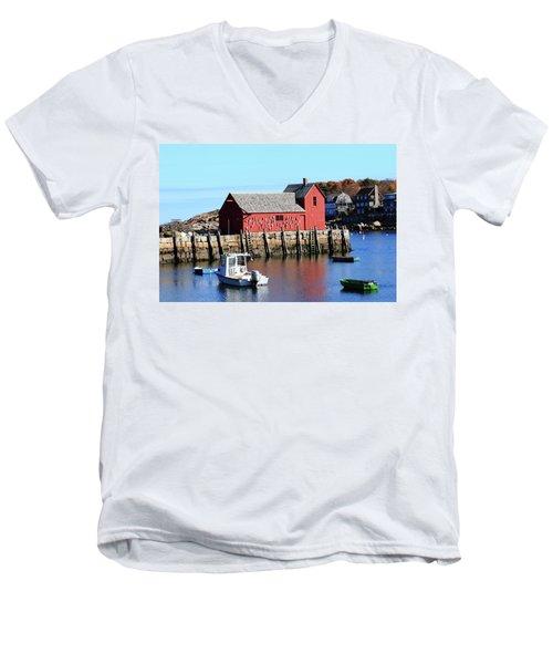 Rockport Motif Number 1 Men's V-Neck T-Shirt