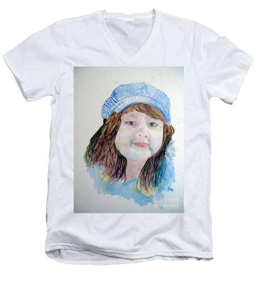 Sarah Men's V-Neck T-Shirt by Sandy McIntire