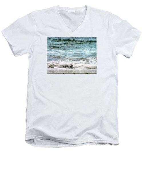 Sea Men's V-Neck T-Shirt by Oleg Zavarzin