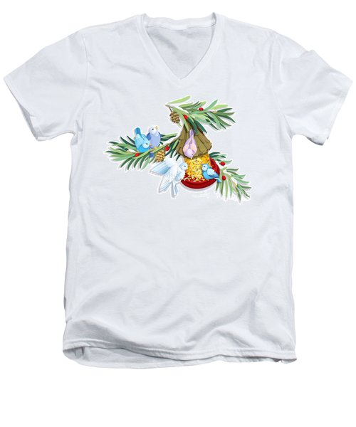 Snacks For All Men's V-Neck T-Shirt