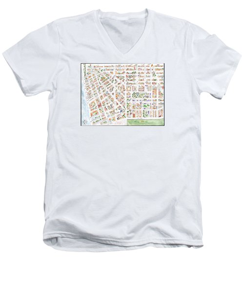 The Greenwich Village Map Men's V-Neck T-Shirt