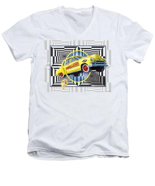Thrillcade Men's V-Neck T-Shirt