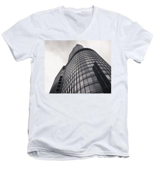 Trump Tower Chicago Men's V-Neck T-Shirt by Adam Romanowicz