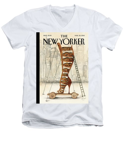 New Yorker March 25th, 2013 Men's V-Neck T-Shirt