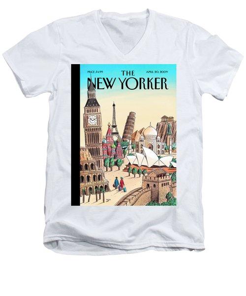 New Yorker April 20th, 2009 Men's V-Neck T-Shirt