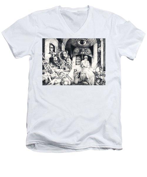 Vindobona Altarpiece IIi - Snakes And Ladders Men's V-Neck T-Shirt
