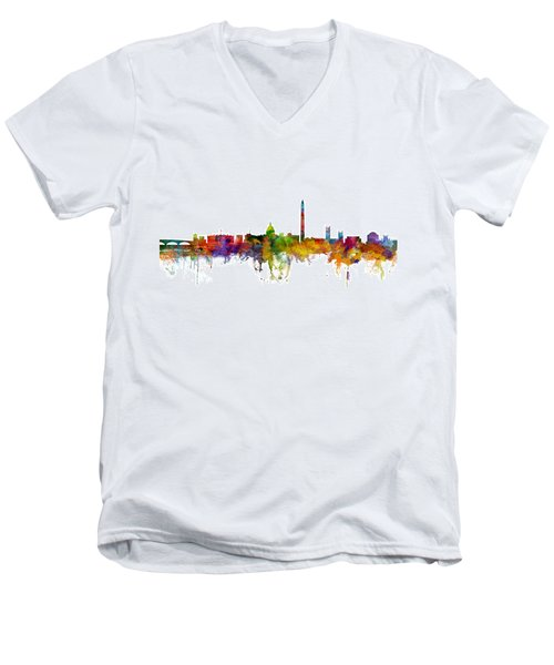 Washington Dc Skyline Men's V-Neck T-Shirt