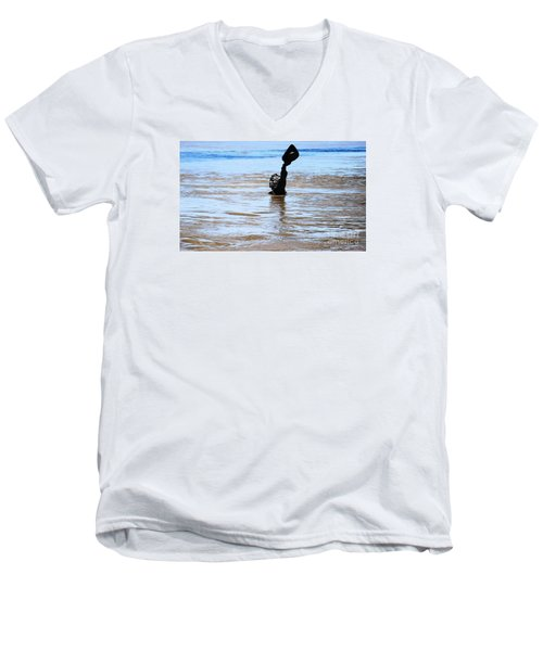 Men's V-Neck T-Shirt featuring the photograph Waters Up by Kelly Awad