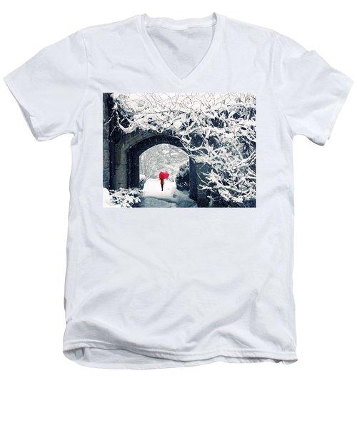 Winter's Lace Men's V-Neck T-Shirt