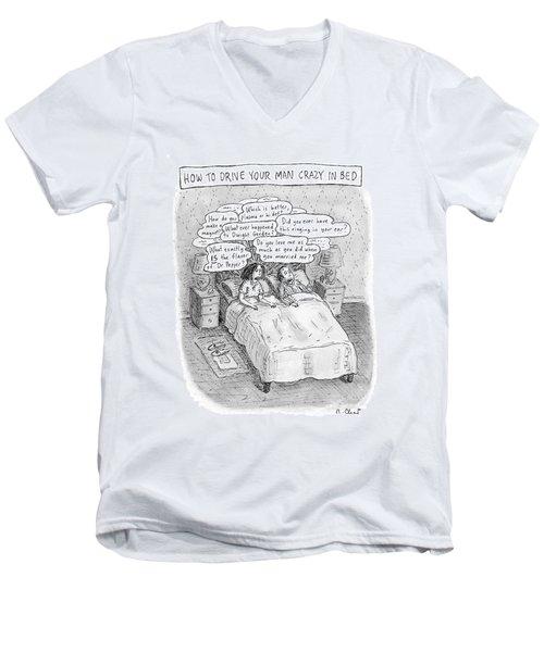 Captionless; Drive Your Man Crazy Men's V-Neck T-Shirt