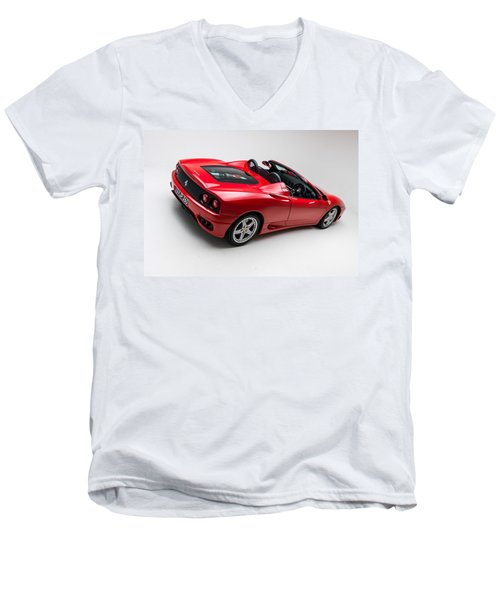 Men's V-Neck T-Shirt featuring the photograph 2002 Ferrari 360 Spider by Gianfranco Weiss