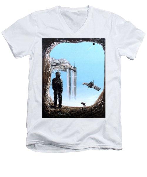 2012-confronting Inevitability Men's V-Neck T-Shirt