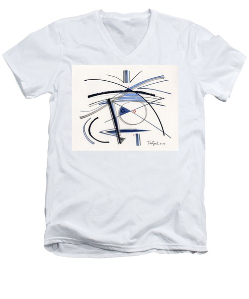 2014 Abstract Drawing #1 Men's V-Neck T-Shirt by Lynne Taetzsch