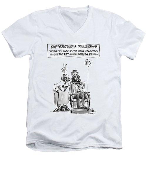 21st Century Previews Men's V-Neck T-Shirt