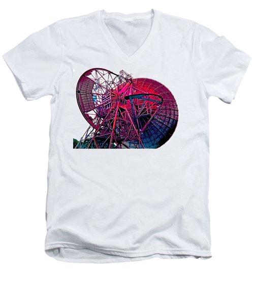 26 East Antenna Abstract 4 Men's V-Neck T-Shirt