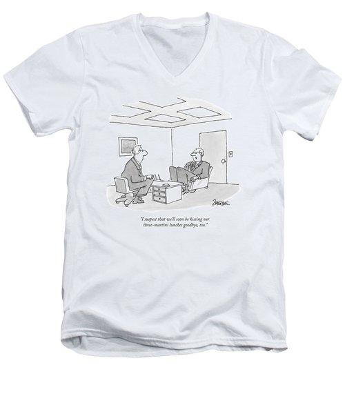 I Suspect That We'll Soon Be Kissing Men's V-Neck T-Shirt
