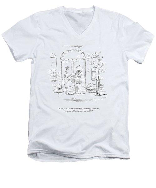 I Too Want Companionship Men's V-Neck T-Shirt