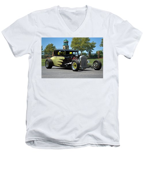 Men's V-Neck T-Shirt featuring the photograph 1930 Ford Coupe Hot Rod by Tim McCullough