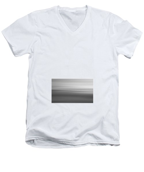 Black And White Abstract Seascape No. 02 Men's V-Neck T-Shirt