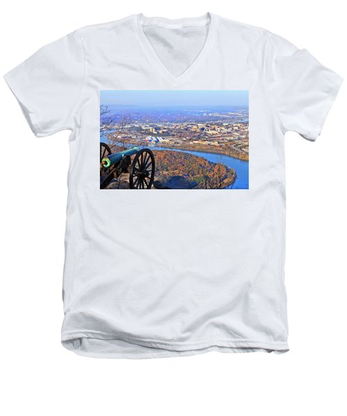 Chattanooga In Autumn Men's V-Neck T-Shirt