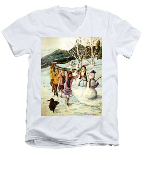 Frosty Frolic Men's V-Neck T-Shirt
