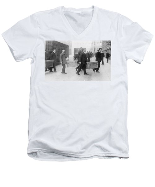 Men's V-Neck T-Shirt featuring the photograph Germany Inflation, 1923 by Granger