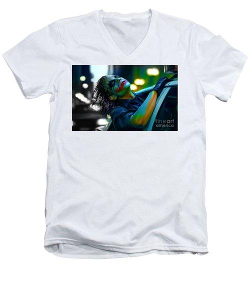 Heath Ledger Men's V-Neck T-Shirt