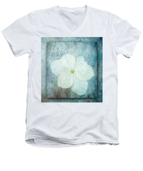 Hydrangea Men's V-Neck T-Shirt by Lynn Bolt