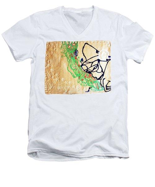 Mama Dinka - South Sudan Men's V-Neck T-Shirt by Gloria Ssali