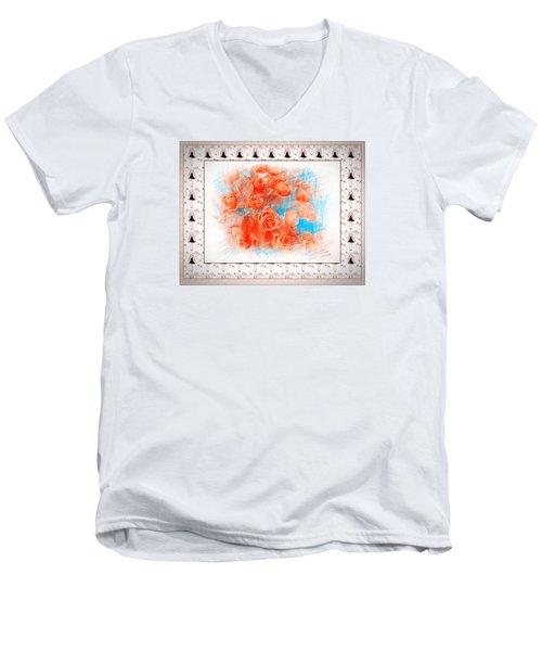The Orange Roses Men's V-Neck T-Shirt