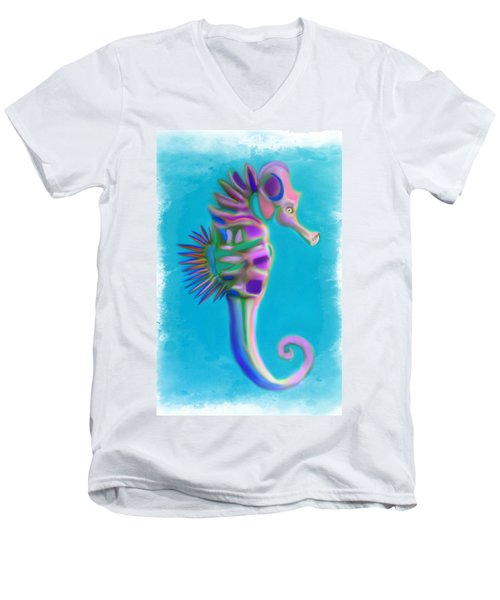 The Pretty Seahorse Men's V-Neck T-Shirt