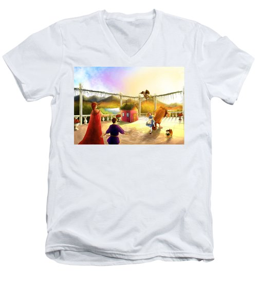 The Palace Balcony Men's V-Neck T-Shirt