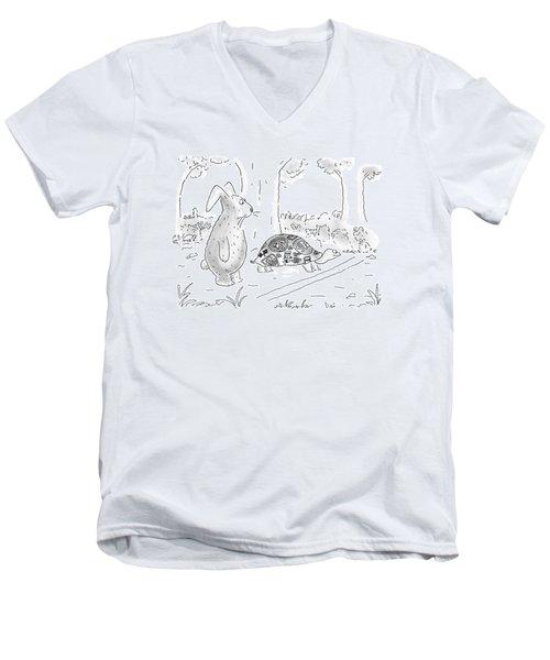New Yorker August 21st, 2000 Men's V-Neck T-Shirt