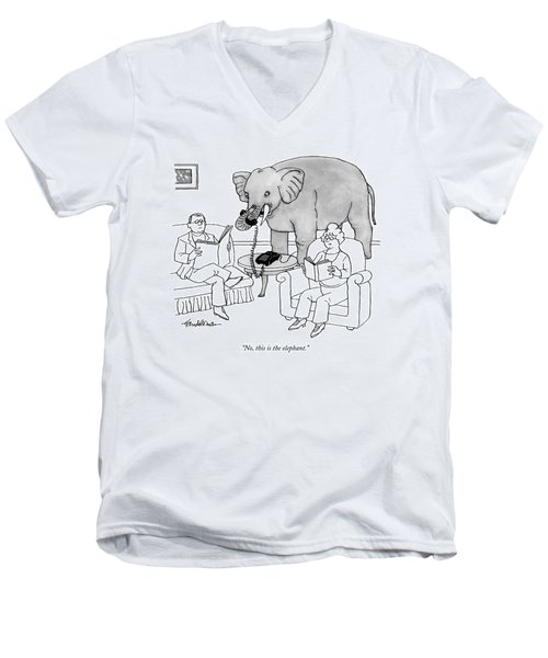 No, This Is The Elephant Men's V-Neck T-Shirt