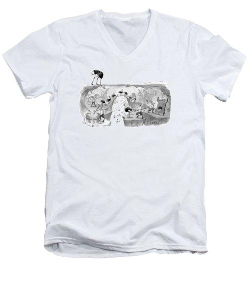 New Yorker October 31st, 2016 Men's V-Neck T-Shirt
