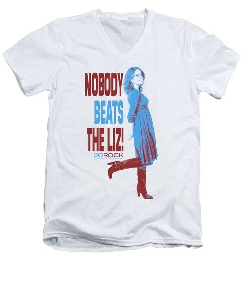 30 Rock - Nobody Beats The Liz Men's V-Neck T-Shirt by Brand A