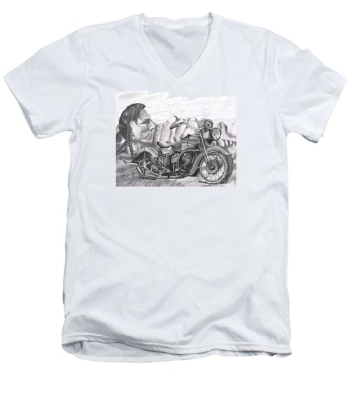 39 Scout Men's V-Neck T-Shirt by Terry Frederick