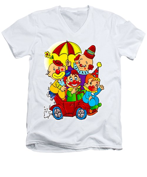 Clowns Series 01 Men's V-Neck T-Shirt