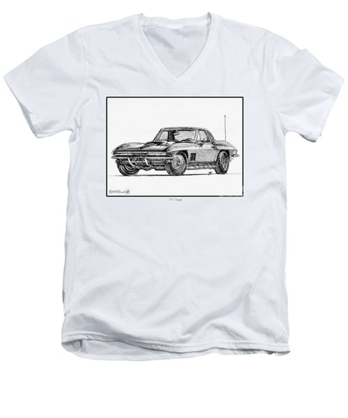 1967 Corvette Men's V-Neck T-Shirt